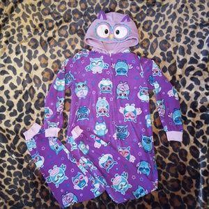 Girl's Owl Onsie Pajamas